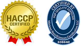 HACCP Certified and SQF Quality Supplier